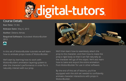 Digital-Tutors - Animating with Props in MotionBuilder 2013