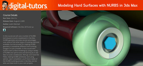 Digital-Tutors - Modeling Hard Surfaces with NURBS in 3ds Max