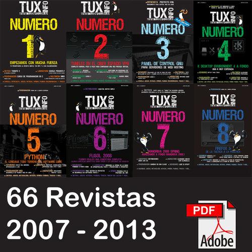 TuxInfo + TuxMovil (2007-2013) 66 revistas Tecnologicas Español