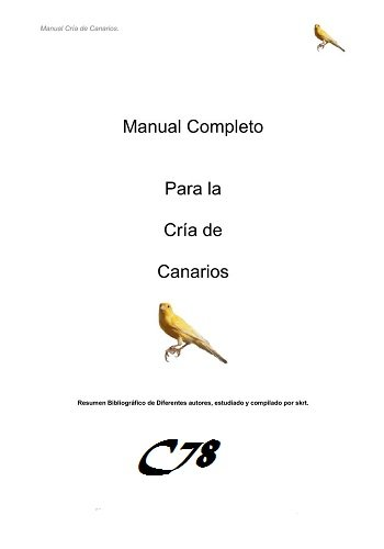 Manual Completo para la Cria de Canarios PDF-DOC